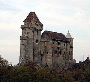 Burg Liechtenstein im Blick vom Kalenderberg