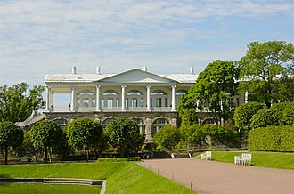 Battle of the Palaces - Cameron's Gallery (1784–1787) in Tsarskoye Selo, an example of Catherine's taste in architecture in the last decade of her reign.