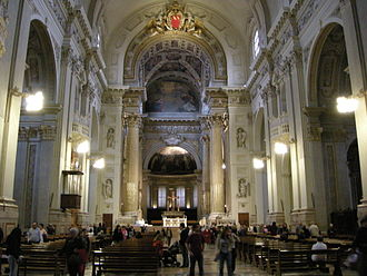 Bologna Cathedral - Cathedral interior, looking towards the high altar