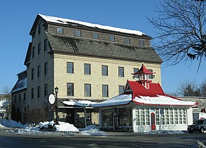 Cedarburg, Wisconsin - Hilgen's and Schroeder's 1855 Cedarburg Mill, and a 1926 Wadham's pagoda.