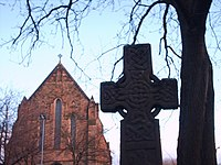 Celtic Cross at Govan Old Parish Church - geograph.org.uk - 734340.jpg