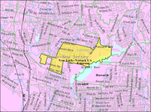 Emerson, New Jersey - Image: Census Bureau map of Emerson, New Jersey