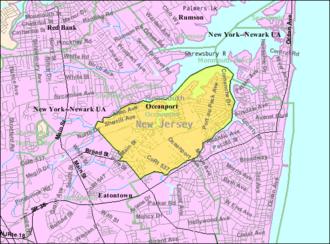 Oceanport, New Jersey - Image: Census Bureau map of Oceanport, New Jersey