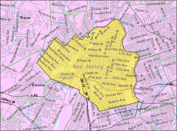 Census Bureau map of Paterson, New Jersey Interactive map of Paterson, New Jersey