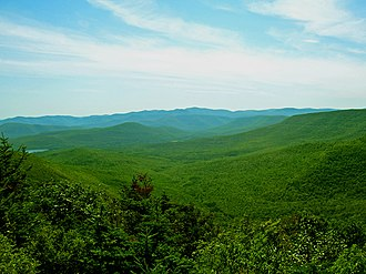 For You Blue - The Catskill Mountains in upstate New York. Harrison's late 1968 visit to Woodstock, where he spent time with Bob Dylan and the Band, served as part of his musical inspiration for the song.