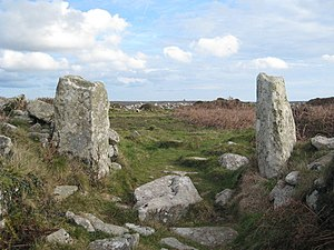 Ringfort - The gate of Chûn Castle in Cornwall