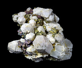 Chalcopyrite sur quartz - District de St Agnes, Cornouailles, Angleterre