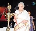 "Chandresh Kumari Katoch lighting the lamp to inaugurate an exhibition ""Jamini Roy Journey to the Roots"", celebrating the 125th Birth Anniversary of eminent artist Jamini Roy, in New Delhi on June 24, 2013.jpg"
