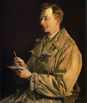 Charles Bean - Portrait by George Lambert, 1924.