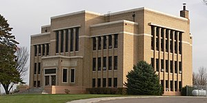 National Register of Historic Places listings in Charles Mix County, South Dakota - Image: Charles Mix County courthouse from NW 3