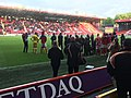 Charlton Athletic Players Gathering after the match against Rochdale.jpg