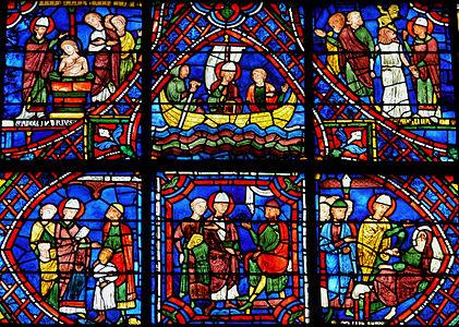 ŒUVRES CHRÉTIENNES DES FAMILLES ROYALES DE FRANCE - (Images et Musique)- année 1870  421px-Chartres_-_Vitrail_de_la_Vie_de_saint_Appolinaire