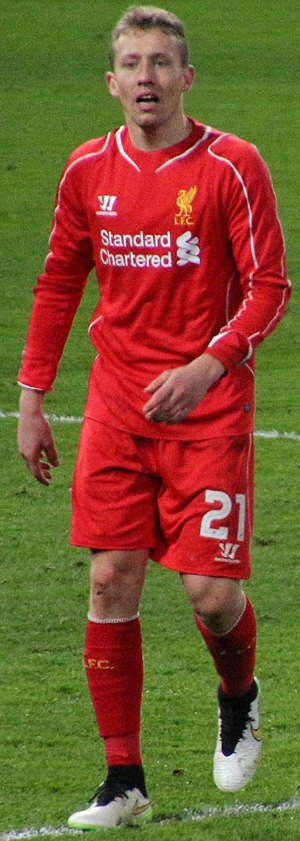 Lucas Leiva - Lucas playing for Liverpool in 2015