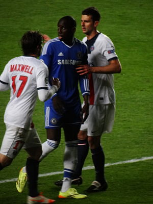 Demba Ba - Demba Ba playing for Chelsea in 2014.