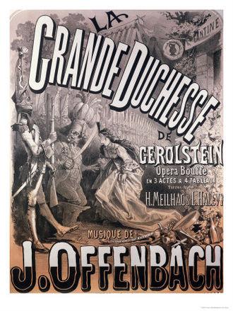 La Grande-Duchesse de Gérolstein - 1868 Jules Chéret poster