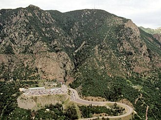 Cheyenne Mountain Air Force Station - Image: Cheyenne Mountain Aerial