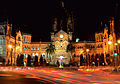 Chhatrapati Shivaji Terminus at night.JPG