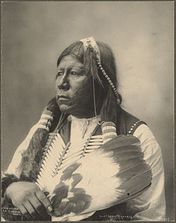 Chief Grant Richards, Tonkawa.Photographié par Frank Rinehart en 1898.