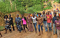 Children hiking as part of a project to promote psychosocial wellness in the Republic of Congo..jpg