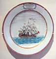 Chinese export porcelain with Dutch ship Vryburg 1756 Qianlong period Canton.jpg