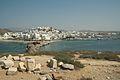 Chora of Naxos from islet Palatia, 080491.jpg