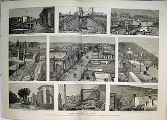 Occupation of Lima - Chorrillos, and the consequences of the war. January 1881