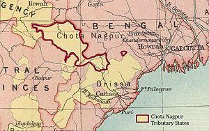 Chota Nagpur Tributary States - Image: Chota Nagpur States IGI 2
