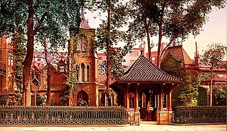 """NoMad, Manhattan - The Church of the Transfiguration (seen here in 1900) has been special to theatre people since 1870, when another church's pastor refused the funeral of actor George Holland and suggested it go to """"the little church around the corner."""""""