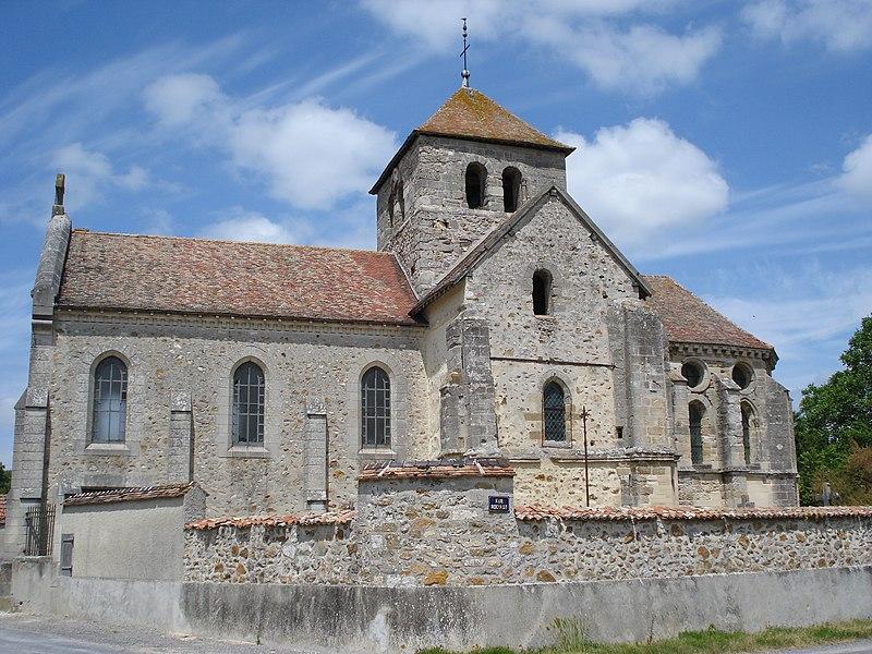 Church of Courmelois (Val-de-Vesle) Marne, Fr