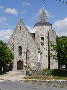 L'église de Courpalay
