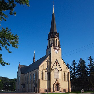 Church of the Sacred Heart (Freeport, Minnesota) - The Church of the Sacred Heart viewed from the northwest