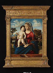 Vierge à l'Enfant dans un paysage