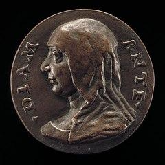 Possibly Diamante de' Medici, Wife of Giovanni Capponi [obverse]