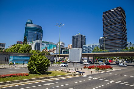 Financial district in downtown Madrid called AZCA City of Madrid (18035561592).jpg
