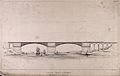 Civil engineering; a cast iron bridge, proposed for the Mena Wellcome V0024352.jpg