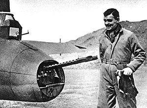351st Missile Wing - Clark Gable next to a B-17 in Britain, 1943
