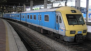 KTM Komuter - KTM Class 82 (EMU41) in Kuala Lumpur Railway Station.