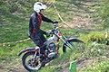Classic trial motor (Gilera) tijdens wedstrijd.jpg
