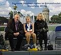Claudia Leistner heute mit Tochter Julia Pfrengle und Trainer Sczypa.JPG