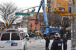 Cleanup of 2015 East Village explosion and fire in New York City 2.JPG