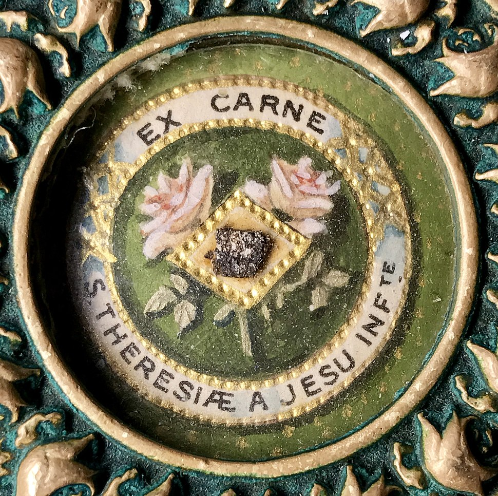 Close up of First Class Relic of Saint Therese of Lisieux