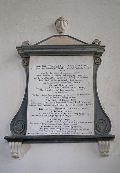 File:Cloyne St. Colman's Cathedral North Transept Memorial Plaque Francis Blake Woodward 2015 08 27.jpg