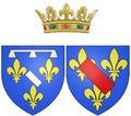 Coat of arms of Anne Geneviève de Bourbon as Duchess of Longueville.png