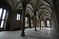 Columns af the Salle des Hôtes - Mont St Michel (32108913483).jpg