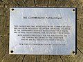 Commemorative plaque at the Commoners' Passageway - geograph.org.uk - 692046.jpg