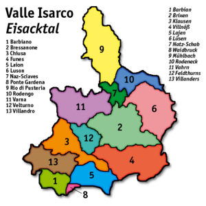 Eisacktal - Eisacktal municipalities