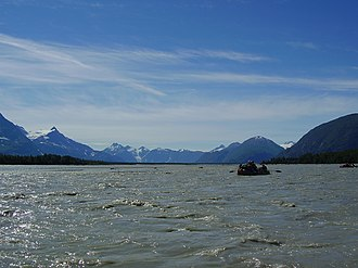 Alsek River - Confluence of the Alsek and Tatshenshini rivers