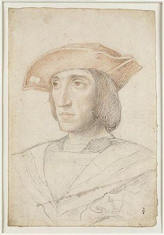 Charles III, Duke of Bourbon - A supposed portrait of the Connetable de Bourbon, by Jean Clouet