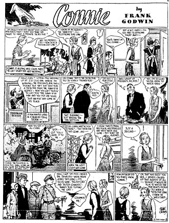 Connie (comic strip) - Frank Godwin's Connie (June 14, 1931).