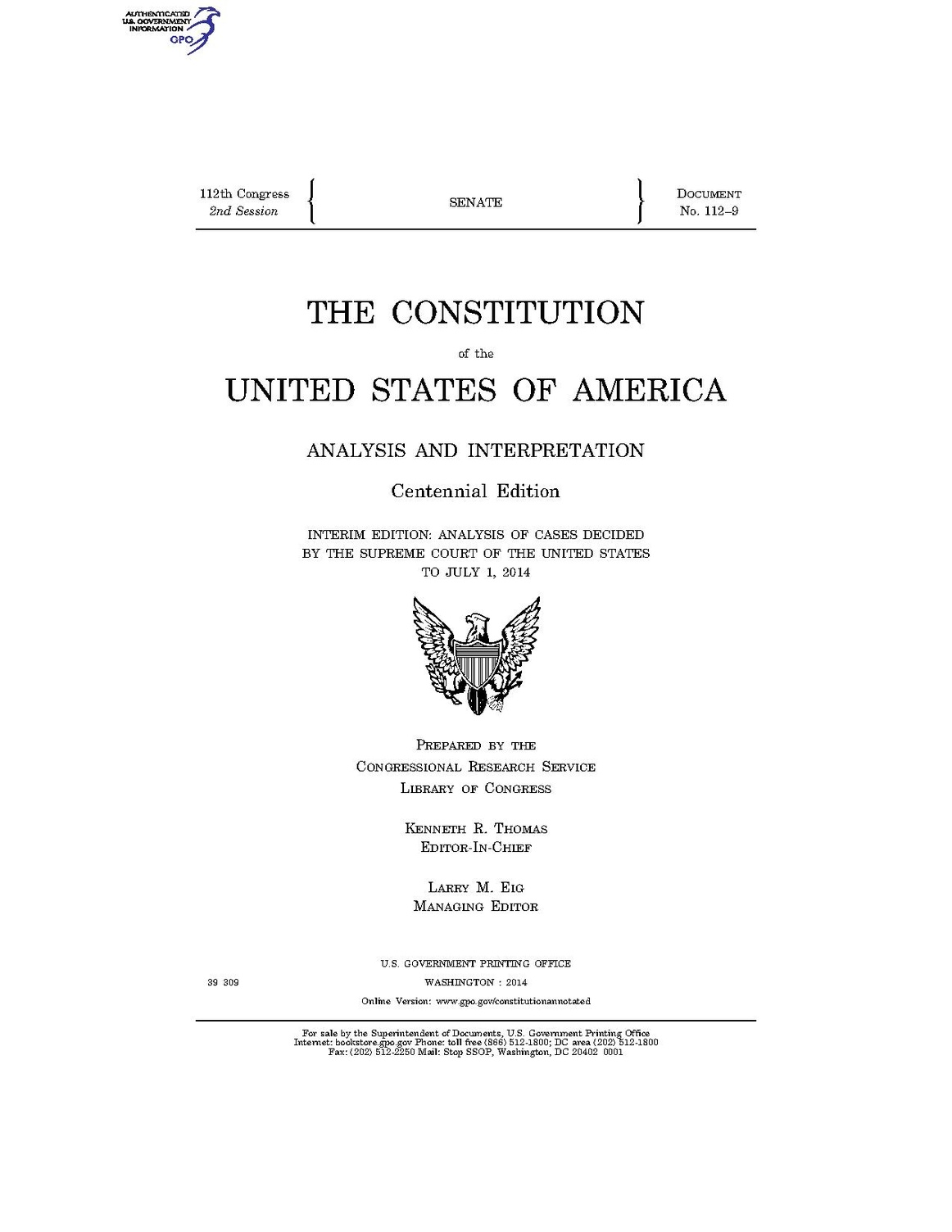 an introduction to the constitution of the united states of america We the people of the united states, in order to form a more perfect union,  establish justice, insure domestic tranquility, provide for the.